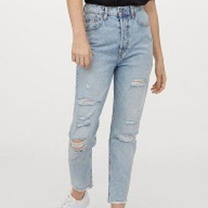 H&M Slim Mom High Ankle Jeans - Size 10